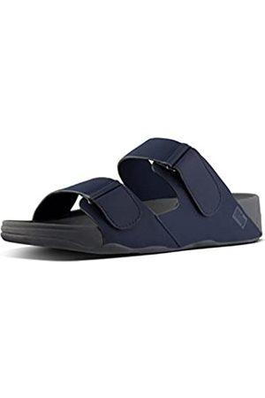 Fitflop Men's Gogh MOC Adjustable Slide Sandals Flip Flops, (Midnight Navy 399)