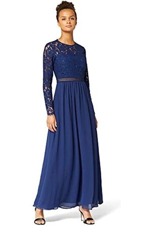 TRUTH & FABLE Amazon Brand - Women's Maxi Lace A-Line Dress, 10