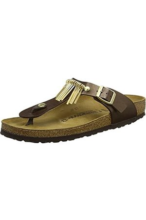 Birkenstock Unisex Adults' Gizeh Fringe Flip Flops, (Graceful Toffee)