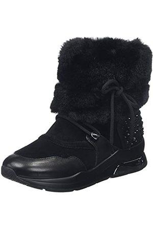 Liu Jo Women's Karlie 34 Booty-LIN. Fur Cow SUED/Blck Ankle Boots
