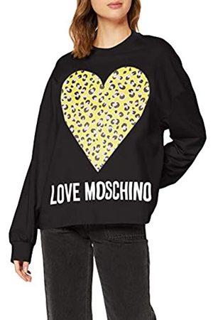 Love Moschino Women's Sweatshirt_animalier Printed Heart&Logo