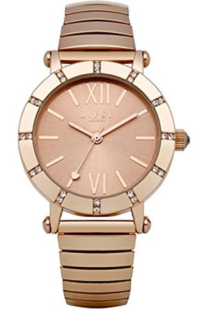 Lipsy Women's Quartz Watch with Rose Dial Analogue Display and Rose Alloy Bracelet LP100