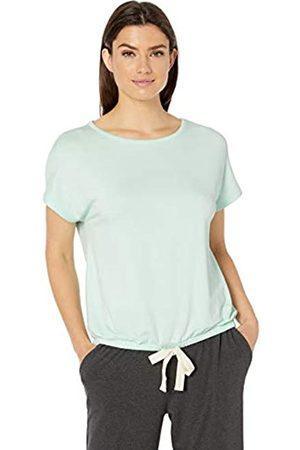 Amazon Essentials Lightweight Lounge Terry Short-Sleeve Tie-Waist Shirt Night