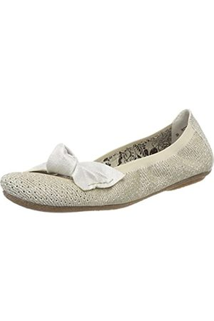 Rieker Women's 41497 Closed Toe Ballet Flats, (weissgold/ - 90)