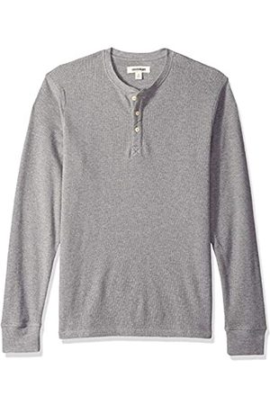Goodthreads Men's Long-sleeve Slub Thermal Henley Shirt, (heather )