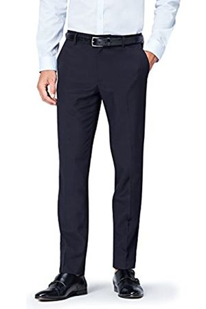 find. Amazon Brand - Men's Slim Fit Formal Trouser (Navy)