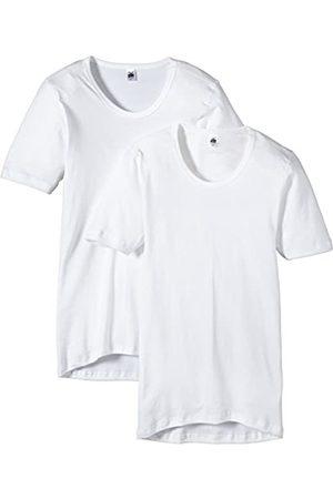 Trigema Men's Herren Unterhemd Feinripp Doppelpack Vest, -Weiß (Weiss 001)