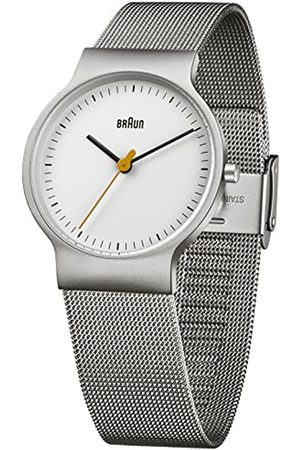 Braun Men's Watch Analogue Quartz Classic Wrist Watch Stainless Steel BN0211WHSLMHL