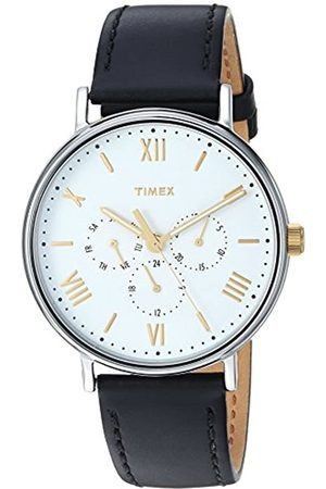 Timex Men's South view Dial on a Leather Strap Watch TW2R80500