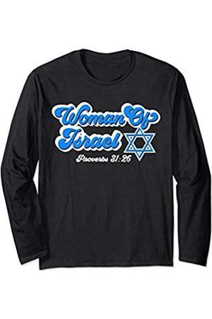 Funny Jewish Yiddish Hebrew Gifts For Men Women Woman Of Israel Jewish Israelite Hebrew Star Of David Gift Long Sleeve T-Shirt