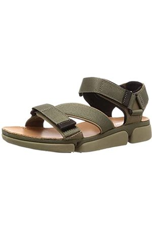Clarks Men's Tricove Sun Ankle Strap Sandals, (Olive Combination)