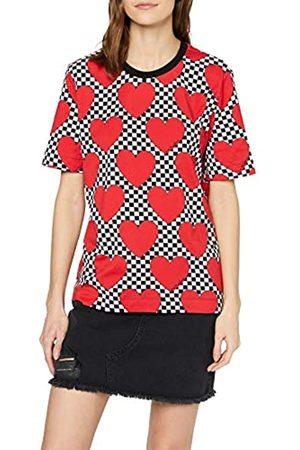 Love Moschino Women's Short Sleeve Jersey T-Shirt_Allover Hearts Print