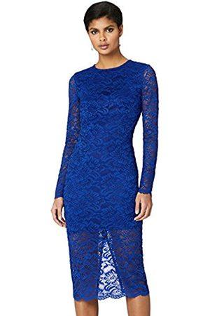 TRUTH & FABLE Amazon Brand - Women's Midi Lace Bodycon Dress, 10