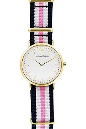 Andreas Osten Unisex-Adult Analogue Classic Quartz Watch with Nylon Strap AO-08