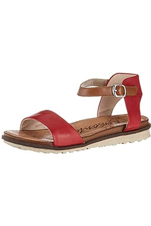 Remonte Women's R2752 Ankle Strap Sandals, (Rosso/Muskat 33)