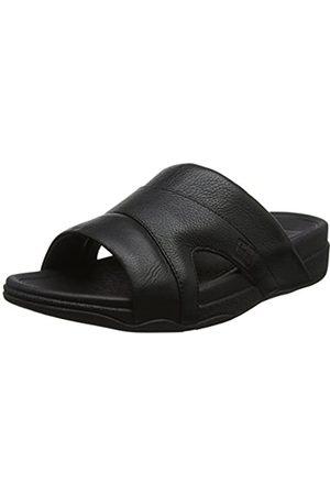 Fitflop Men's Freeway Pool Slide in Leather Open Toe Sandals