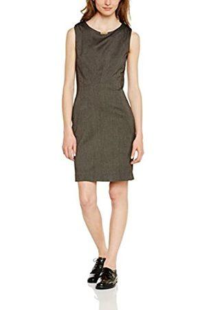 LA CITY Women's 560 Midi Plain Sleeveless Dress