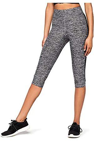AURIQUE Amazon Brand - Women's Side Stripe Capri Sports Leggings, 12