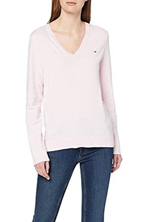 Tommy Hilfiger Women's Heritage V-nk Sweater Regular Fit Jumper