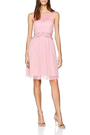 Little Mistress Women's Prom with Trim Party Dress, (Rose)