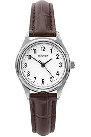 Sekonda Womens Analogue Classic Quartz Watch with Leather Strap 2896