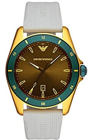 Emporio Armani Mens Analogue Quartz Watch with Rubber Strap AR11234
