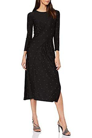Warehouse Women's Spot Jacquard Midi Dress