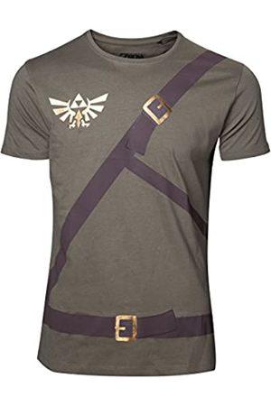 Meroncourt Men's Nintendo Legend of Zelda Link's Belts T-Shirt, Extra Large
