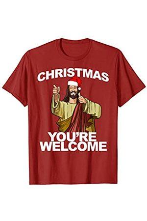 Miftees Christmas You're Welcome funny Jesus Christmas T-Shirt