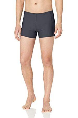 Amazon Essentials Men's Square Swim Brief Dark