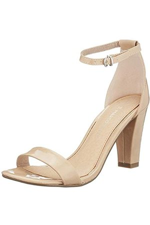 MARCO TOZZI Women's 2-2-28383-24 Ankle Strap Sandals, (Nude Patent 477)