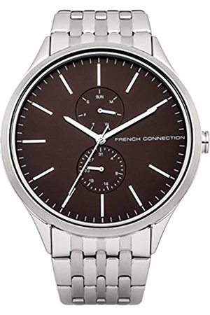 French Connection Men's Quartz Watch with Dial Analogue Display and Stainless Steel Bracelet FC1234TM