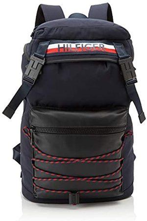 Tommy Hilfiger Mens Urban Mix Flap Backpack Shoulder Bag (Corporate)