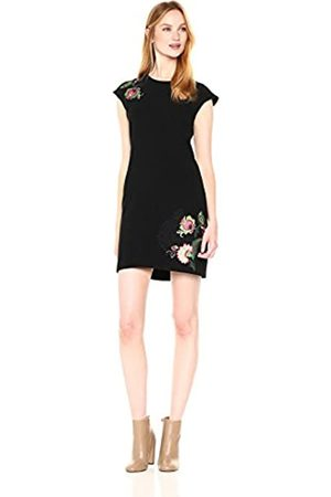 Desigual Women's Vest rendan Knee-Length Pencil Short Sleeve Dress, (Negro 2000)
