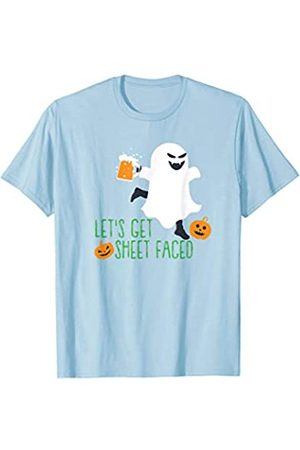 Halloween Costume Apparel by BUBL TEES Let's Get Sheet Faced Ghost Halloween Gift T-Shirt