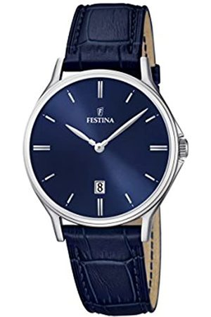 Festina Men's Quartz Watch with Dial Analogue Display and Leather Strap F16745/3
