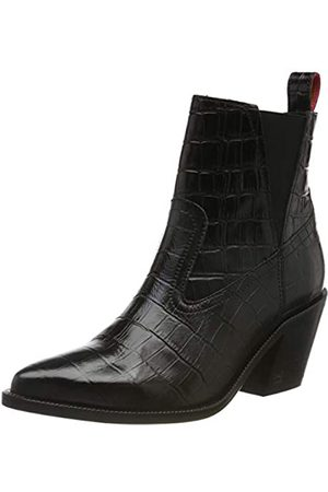 SCOTCH & SODA FOOTWEAR Women's Abbey Chelsea Boots, (blk Croco Optics S005)