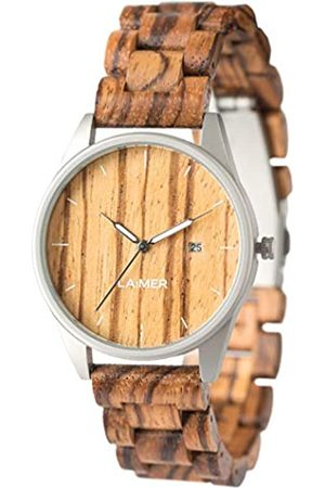 Laimer Wood watch ULLI – mens wristwatch made of 100% Zebrano wood and stainless steel case - nature & luxury lifestyle