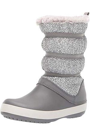 Crocs Women's Crocband Winter Boot Snow, (Dots/Smoke)