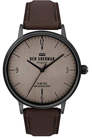 Ben Sherman Mens Analogue Classic Quartz Watch with Leather Strap WB021TB