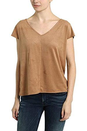 Berydale Women's V-Neck T-Shirt, suede Look