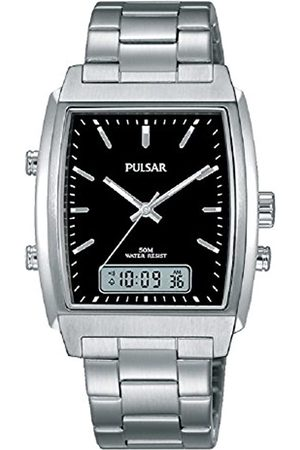 Pulsar Mens Analogue-Digital Quartz Watch with Stainless Steel Strap PBK031X1
