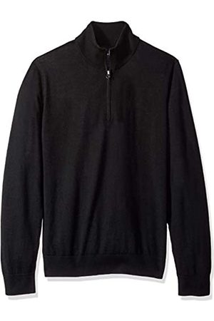 Buttoned Down Men's Italian Merino Wool Lightweight Quarter-Zip Jumper X-Large