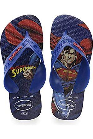 Havaianas Unisex Kids Max Herois Flip Flops, (Marine )