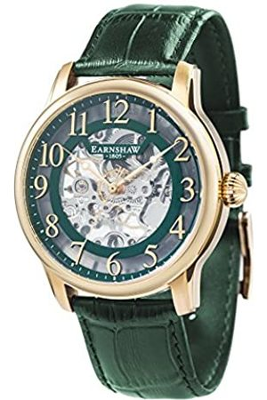 THOMAS EARNSHAW Thomas Earnhshaw Men's Longitude Mechanical Watch with Dial Skeleton Display and Leather Strap ES-8062-06