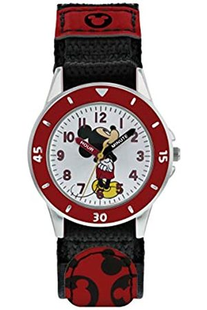 Mickey Mouse Boys Watches - Boys Analogue Quartz Watch with Textile Strap MK5151