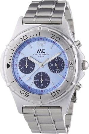MC MC Men's Watch Chronograph Metal Band Quartz Time Trend 24840