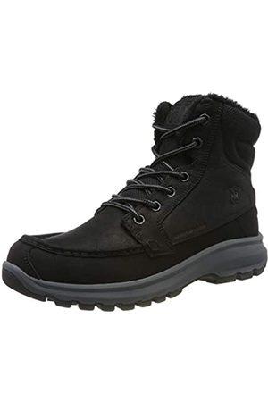 Helly-Hansen Helly Hansen Men's Garibaldi V3 Waterproof Winter Snow Boot Warm with Grip, Jet /Charcoal/