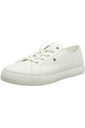 Tommy Hilfiger Women's Pastel Tommy Essential Low-Top Sneakers, (Whisper 121)