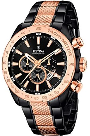 Festina Men's Quartz Watch with Dial Chronograph Display and Stainless Steel Plated Bracelet F16888/1